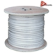 AceLevel 1000ft RG59 Siamese Cable for Surveillance Cameras Video/Power 95% (White) - CAB-RG59/1000W
