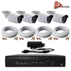 AceLevel 8 Channel HD AHD DVR Kit with 4 x 720p Night Vision Weatherproof Bullet Cameras and 1TB