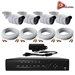 AceLevel 8 Channel HD AHD DVR Kit with 4 x 720p Night Vision Weatherproof Bullet Cameras and 1TB - SET-DVR-8CH3-TYA-4B