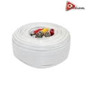 AceLevel Premium 200ft BNC Video/Power Cable for Defender Cameras (White)