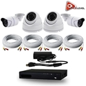 AceLevel 4 Channel HD AHD Kit with 2 x 720P Bullets Cameras, 2 x 720P Dome Cameras, and 1TB Acelevel, 4, Four, Channel, HD, AHD, DVR, Kit, Bullet, Dome, Camera, Cameras