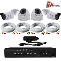 AceLevel 8 Channel HD AHD DVR Kit with 2 x 720p Bullet Cameras, 2 x 720p Dome Cameras, and 1TB