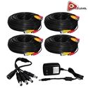 Acelevel Premium 60ft Cables for Night Owl Cameras (4 Pack)