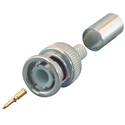 BNC Male Crimp-on Connector 3-Pc BNC Male, Crimp-on, Coupler, adapter, extender, BNCT, CCTV, Coaxial