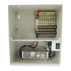 9 Camera Power 5 Amps Power Distribution Panel 9 Camera Power, 5 Amps, Power Distribution Panel, Power Box, CCTV Installation power box