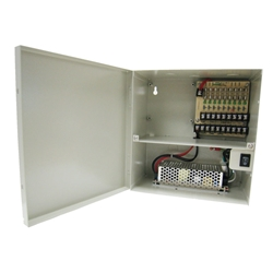 9 Camera Power 10 Amps Power Distribution Panel 9 Camera Power, 10 Amps, Power Distribution Panel, Power Box, CCTV Installation power box