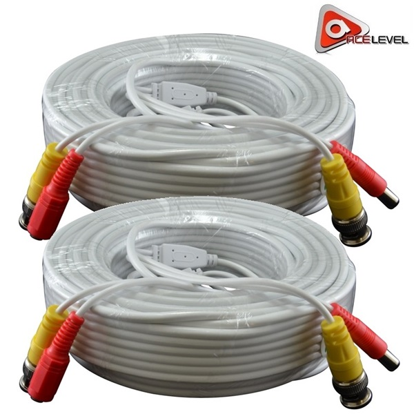 Acelevel Premium 100ft Bnc Extension Cables For Night Owl