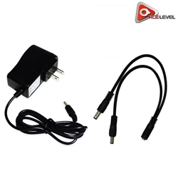 AceLevel Premium 2Amp Power Adapter with 2 Way Splitter for Defender Cameras