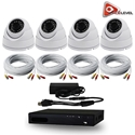 AceLevel 4 Channel HD AHD DVR Kit with 4 x 1080P Night Vision Weatherproof Dome Cameras and 1TB
